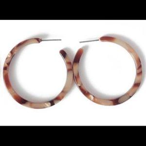 Jewelry - Acrylic tortoise shell hoops